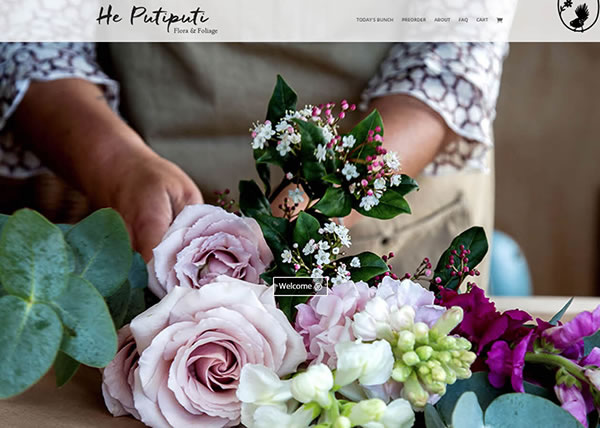 He Putiputi flowers – website and logo