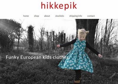 Hikkepik Clothing Home Nectarine Website Portfolio F