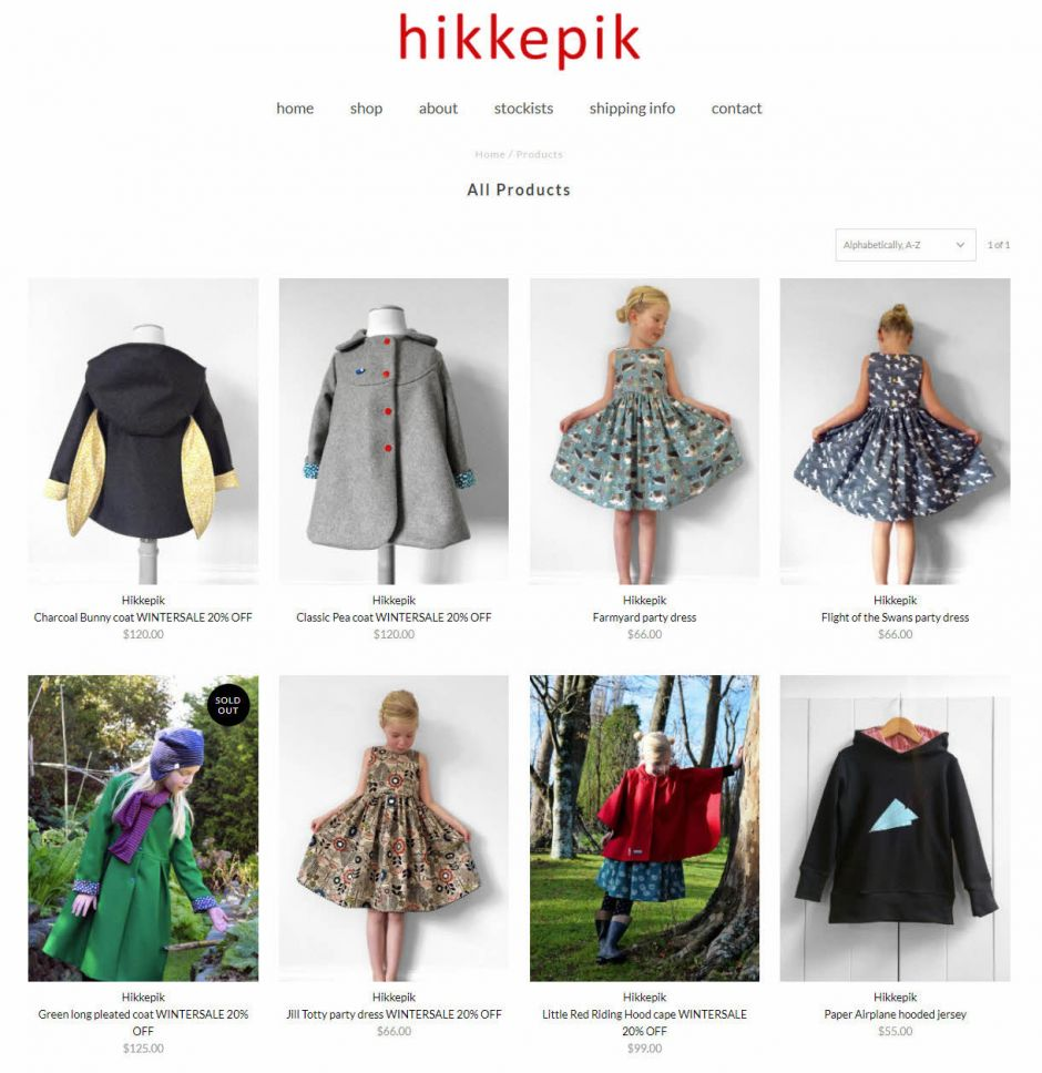 Hikkepik Clothing Shop Nectarine Website Portfolio