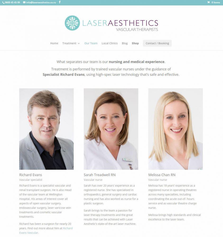 Laser Aesthetics Our Team Nectarine Website Portfolio