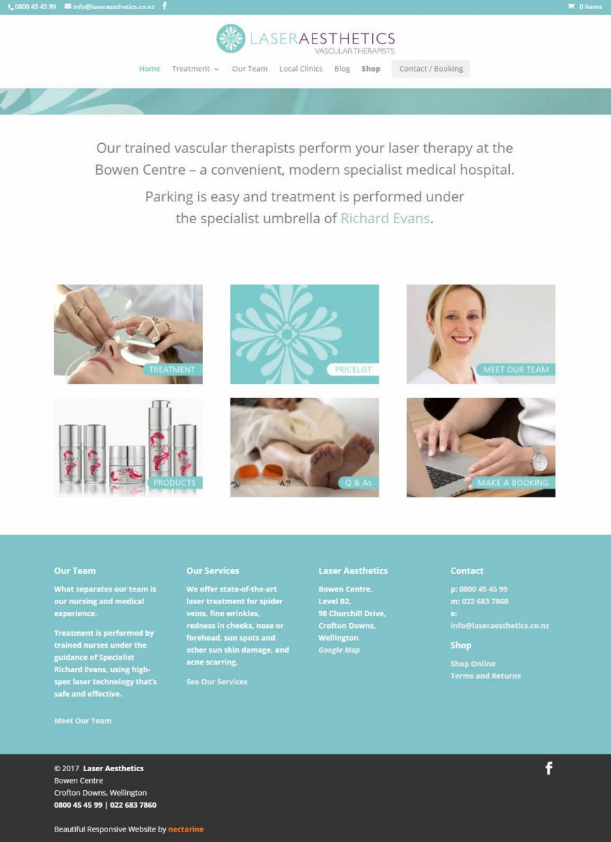 Laser Aesthetics What We Do Nectarine Website Portfolio