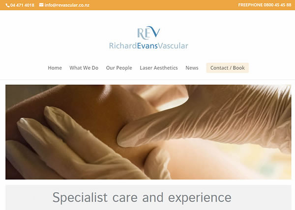 Richard Evans Vascular REV website