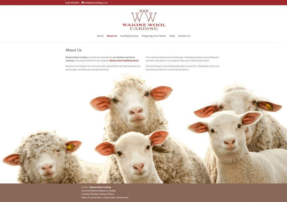Waione Wool Carding About Us Nectarine Website Portfolio