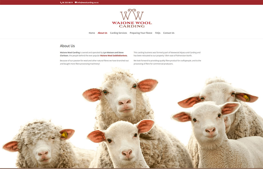 Waione Wool Carding : Logo, Media & Website