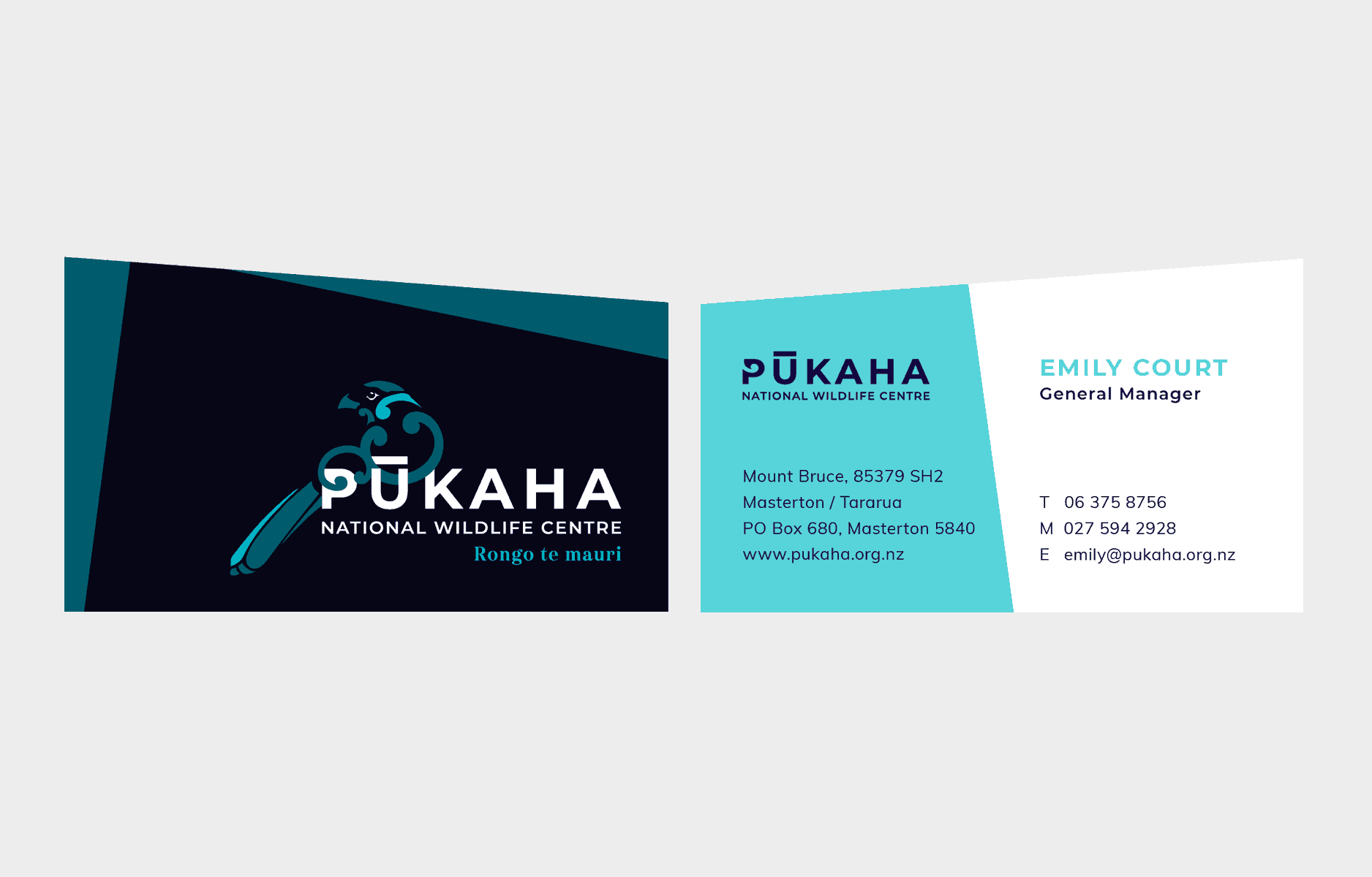 Pūkaha Business Cards