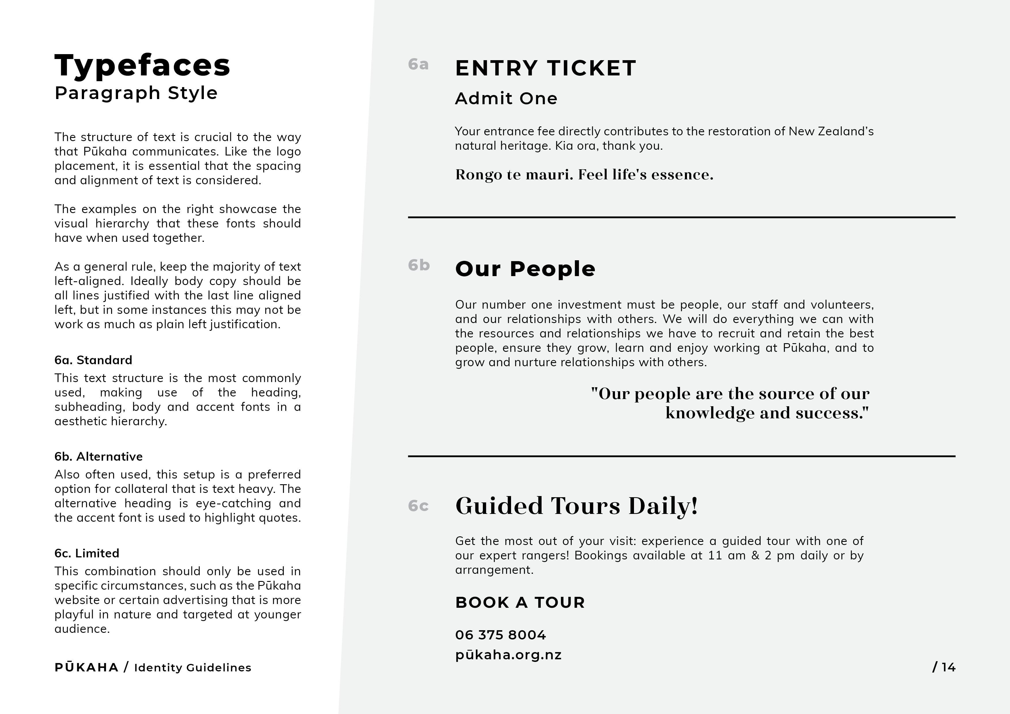 Pukaha Identity Guidelines14