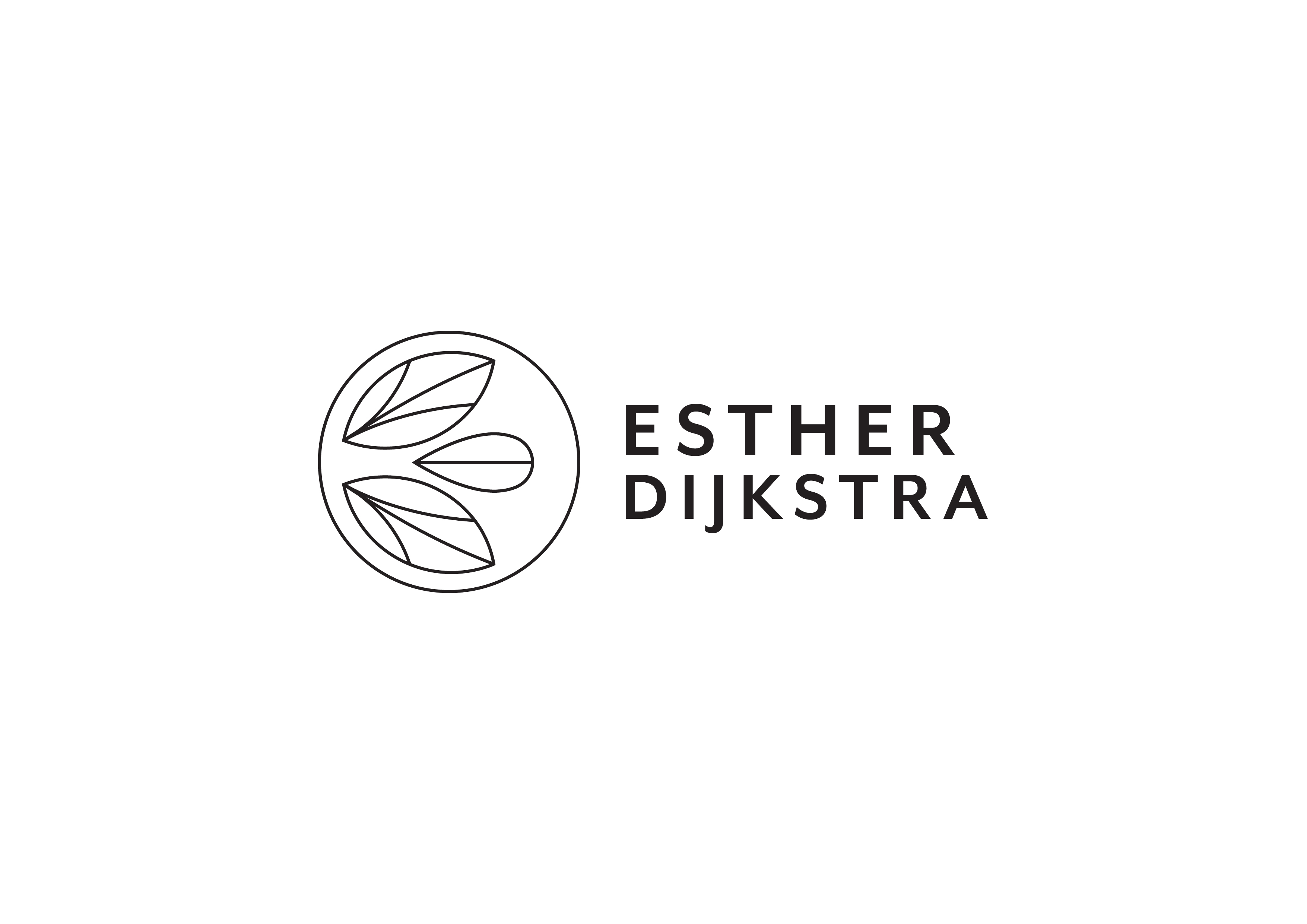 Esther Dijkstra Logo Full Outline Black