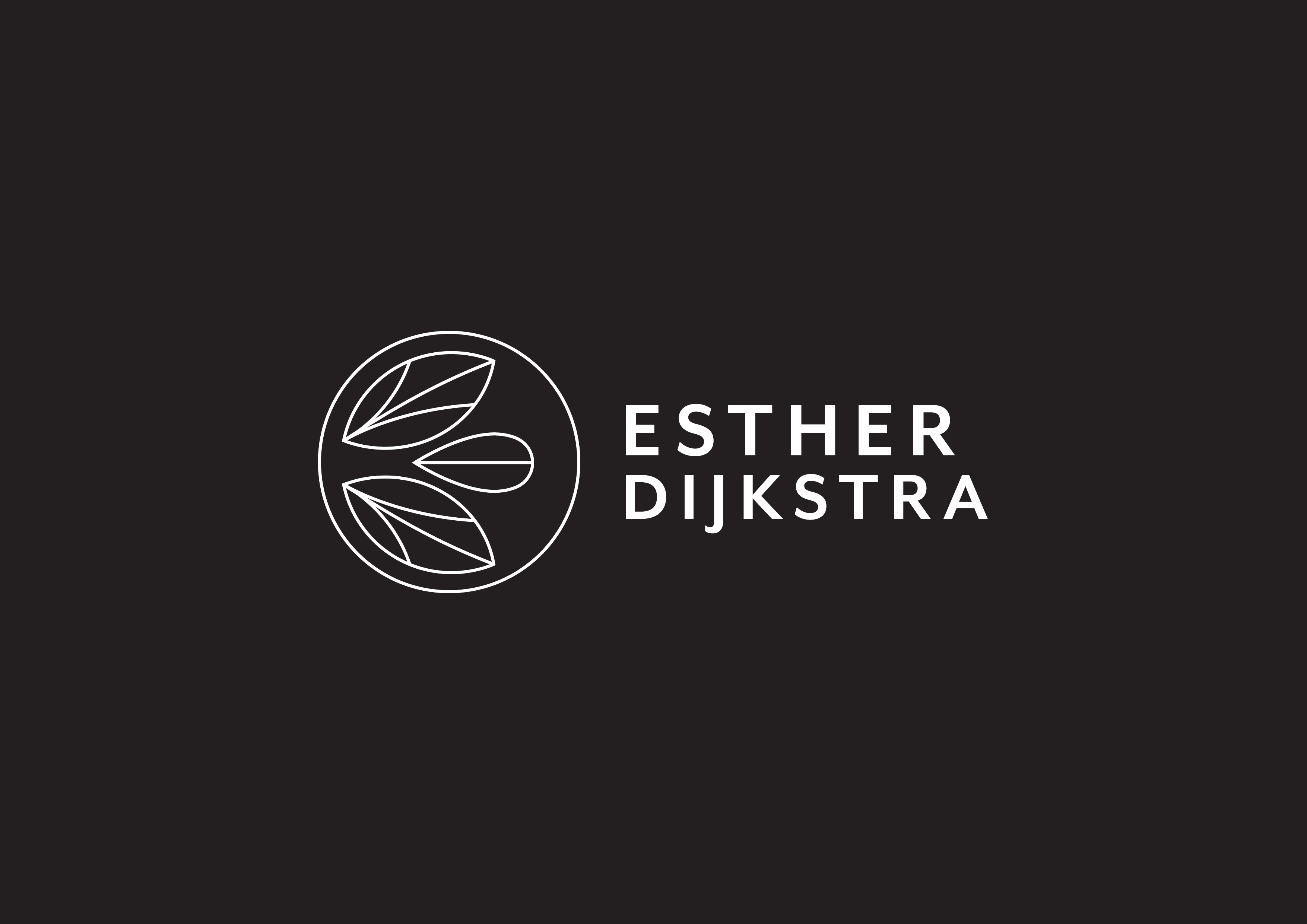 Esther Dijkstra Logo Full Outline White