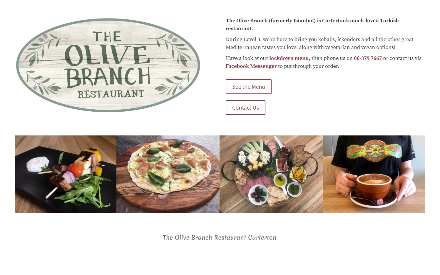 Olive Branch Website Featured