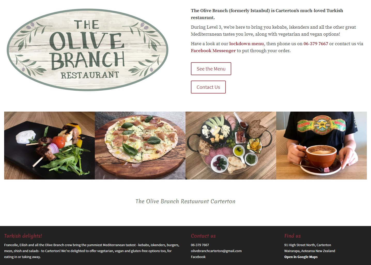 Olive Branch Website Home