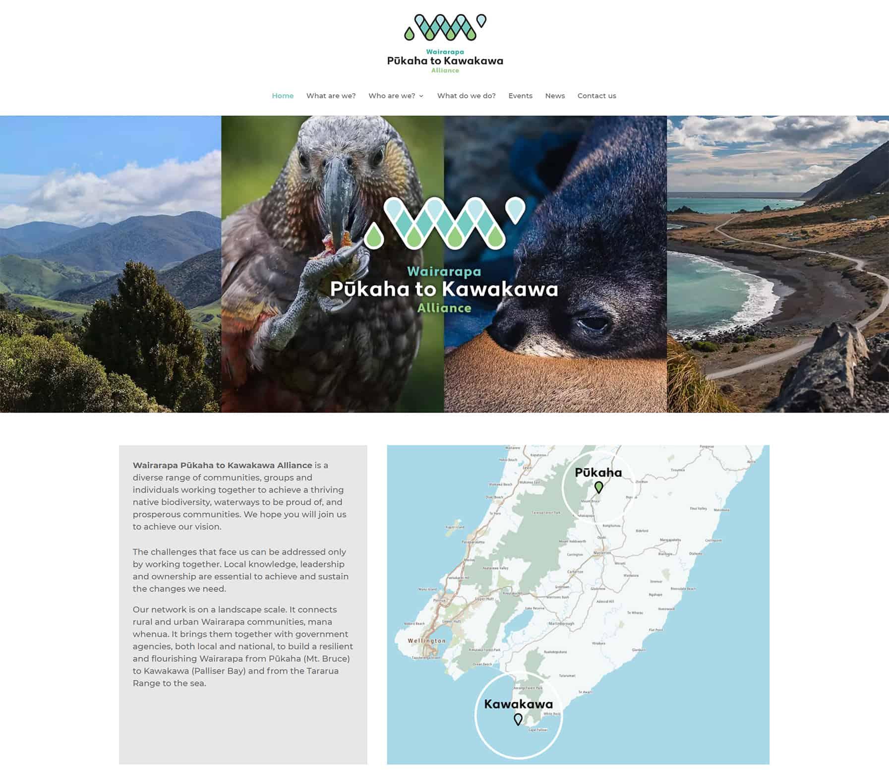 Pukaha To Kawakawa Alliance Home Nectarine Website Portfolio