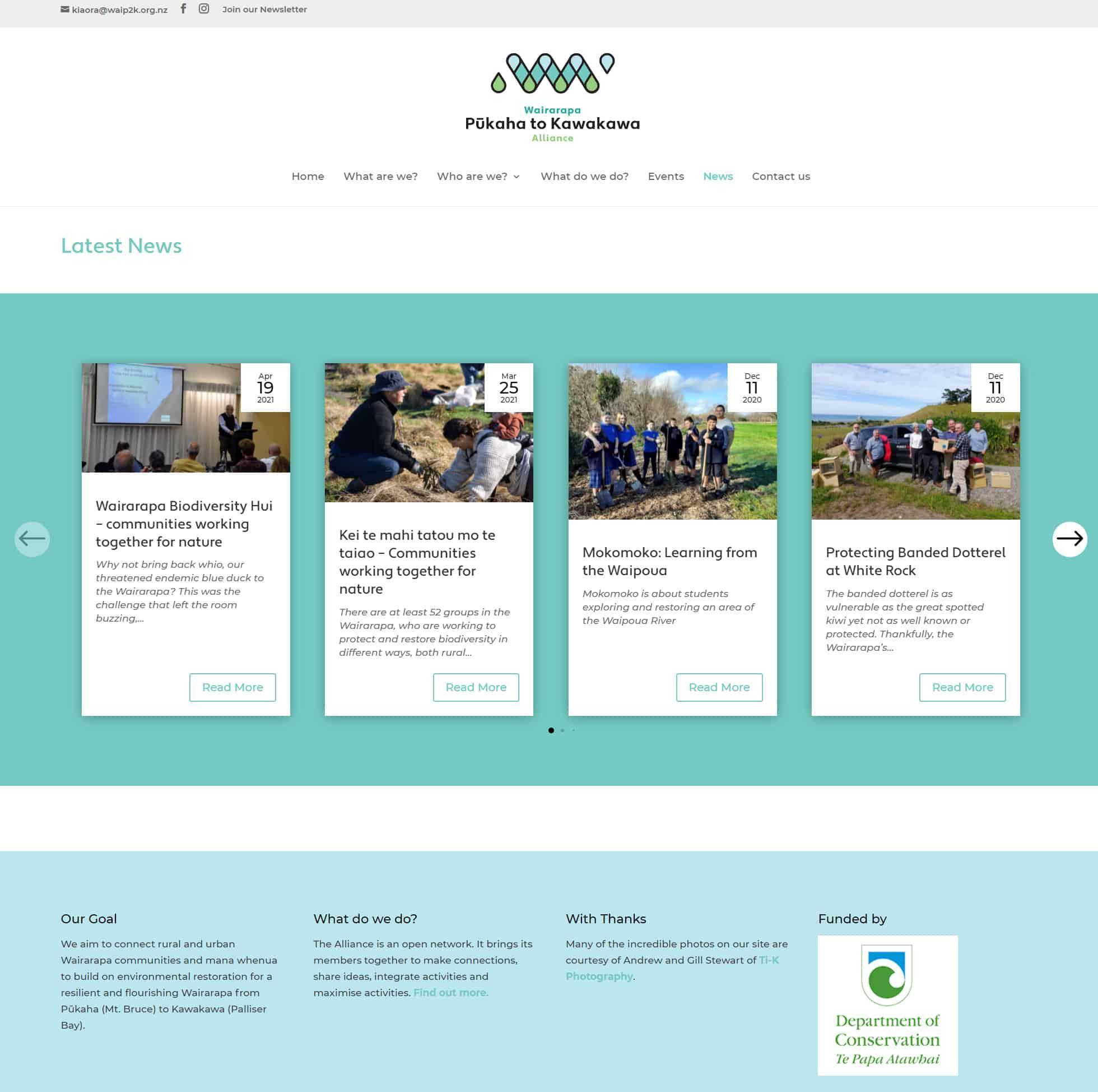 Pukaha To Kawakawa Alliance News Nectarine Website Portfolio