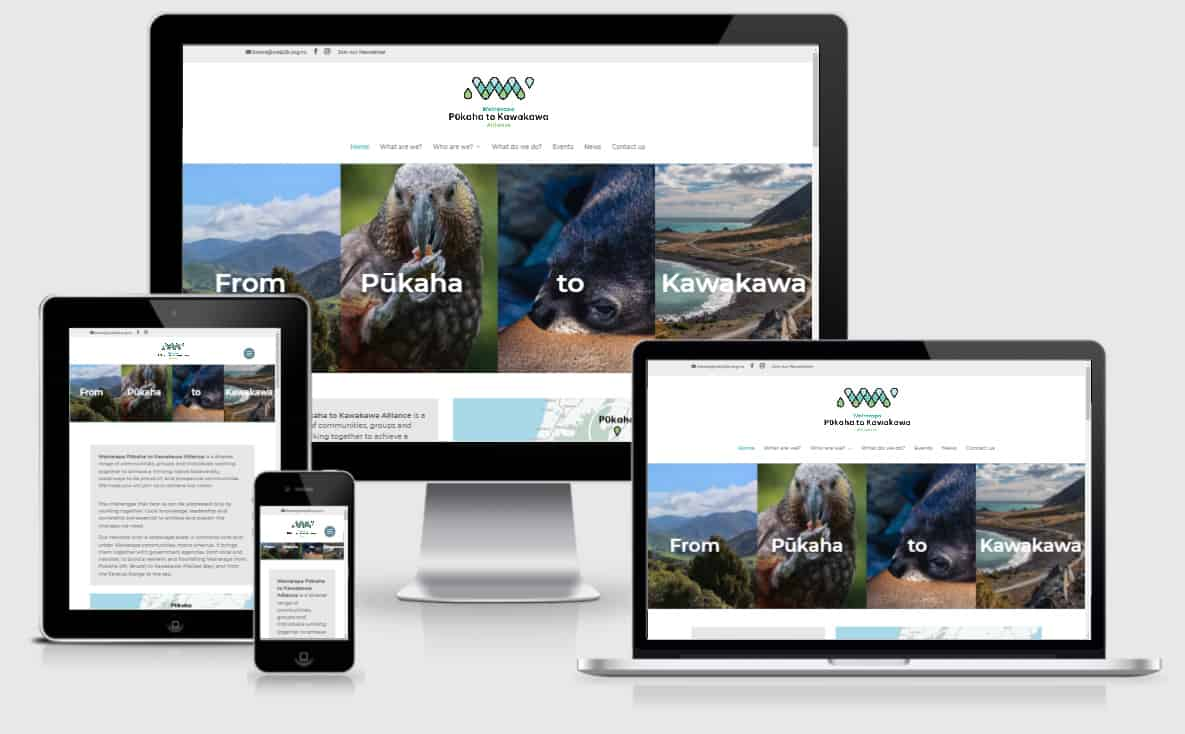 Pukaha To Kawakawa Alliance Responsive Nectarine Website Portfolio