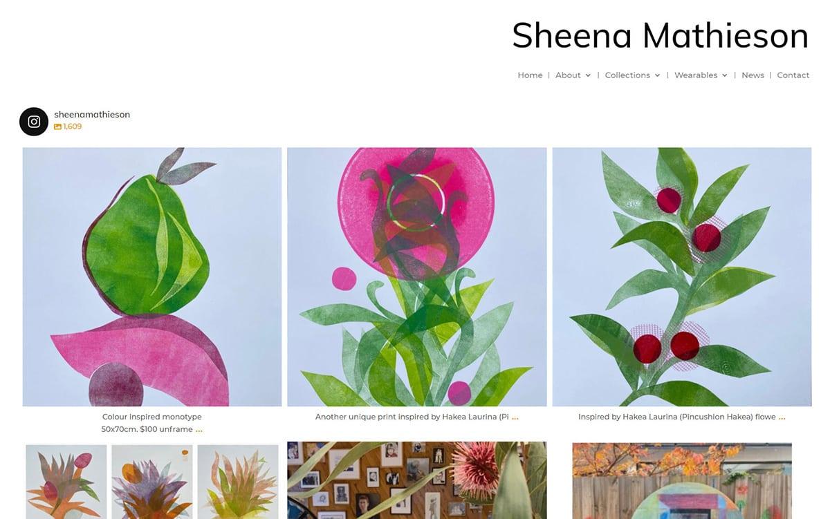Sheena Mathieson Artist Featured Nectarine Portfolio