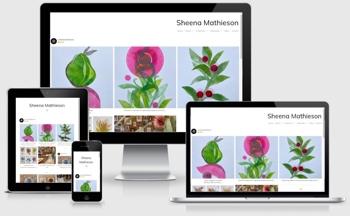 Sheena Mathieson Artist Responsive Nectarine Portfolio